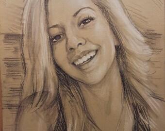 Custom sketch, girl sketch, pencil sketch