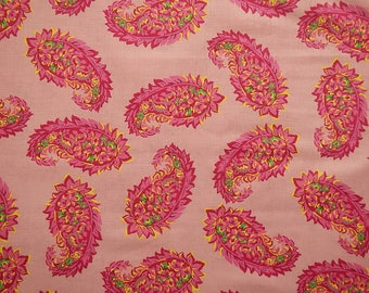 VIP Cranston  Print Works Co. 2011 ~ Pink Paisley Craft Quilt Sewing Home Decor 100% Cotton Fabric