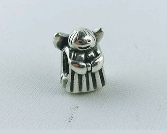 Pandora Angel Of Hope Charm/New/Ale/925/Retired