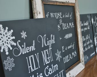 Barnwood Chalkboard sign-4 inserts-decorate all year-seasonal decor-home decor gift-hang on the wall- lean on a mantle or table