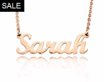 Rose Gold Name Necklace, Name Necklace, Personalized Name Necklace, Custom Name Necklace Rose Gold Only 47.20