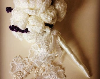 Bridesmaid/ flowergirl hand crocheted bouquet