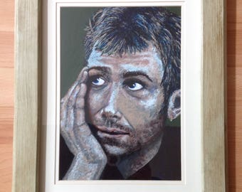 framed portrait of Damon Albarn