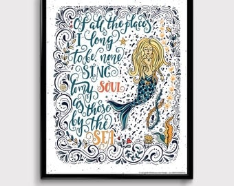 Mermaid Wisdom, Nautical Artwork,