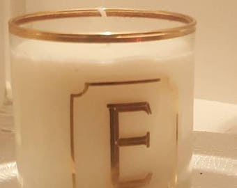 Limited edition Gold Trim Monogram Soy Wax Candle 14 oz