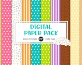 50% OFF SALE! Ice Cream Digital Paper, Sprinkles Background Paper - Commercial Use, Instant Download