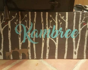 18x24 Wooden name sign for nursery or child's room