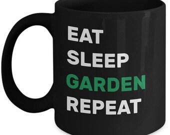 EAT SLEEP GARDEN Mug - Gifts for Gardeners, Gardening Gifts, Gardener Christmas Gift, Gardener Birthday Gift, Gardening Coffee Mug, Gardener