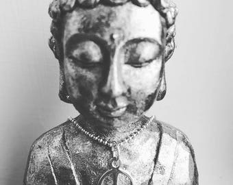 Silver Peace Symbol Necklace