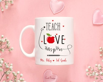 Personalized Teacher Graduation Gift Personalized Teacher Mug New Teacher Gift Ideas Teacher Gift Ideas 46