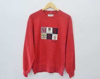 GRANDSLAM Sweatshirt Vintage 90's MunsingWear Spell Out Pullover Crewneck Sweater Sweatshirt Size M