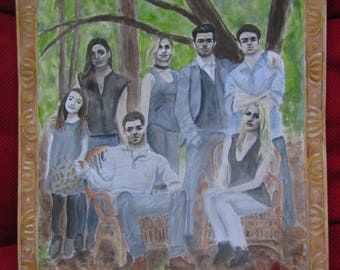 Print of Mikaelson family portrait watercolour painting