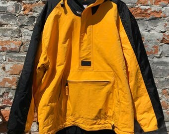 Vintage C&B sport Yellow and Black jacket by Craft and Barrow Mens medium 90's Mint Condition