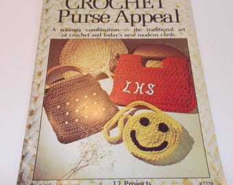 Crochet Purse Appeal, Pattern Book by Linda Harrison, 12 Projects. (c) 1977 Designer Artistic Crafts
