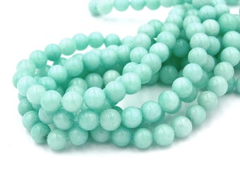 """Two 15"""" strands Blue Amazonite Beads 8mm"""