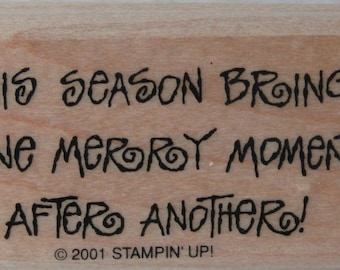 MERRY MOMENT Rubber Stamp by STAMPINUP