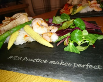 Engraved Slate placemat/plate/serving boards A classy touch for that special meal or event