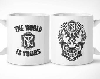 Scarface > Skullface-Exclusive mug mug/exclusive mug-Tony Montana Al Pacino Brian De Palma Cinema movie Cinema movie