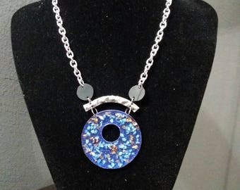 Air Chamber and resin necklace