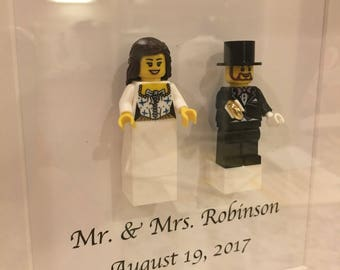 Wedding Framed Lego Art, Gift, Anniversary