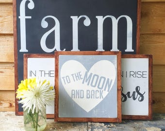 Love You to the Moon and Back- To the Moon and Back Wood Sign- Nursery Decor- Nursery Wood Signs- Baby Shower Gift