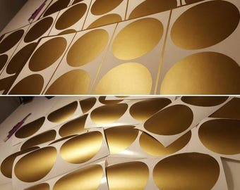 Gold Polka Dots - Peel and Stick Polka Dots - Metallic Gold Decals - Dots Decals