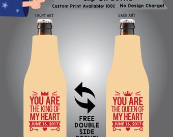 You Are The King Of My Heart Date Slip On Bottle Double Side Print (SF-W2)