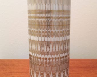 Mid Century Vintage White & Gold Vase from Hans Theo Baumann for Rosenthal, 1960s / 1970s
