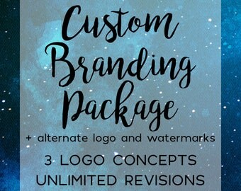 Custom Logo and Branding  Package, Business Branding Kit, Watermarks, Banner, Avatar and Business Card, Marketing Package, Photographer Logo