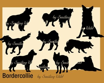 Border Collie svg border colly silhouette cliart Puppy clip art printable dog border collie print instant download commercial use dog print