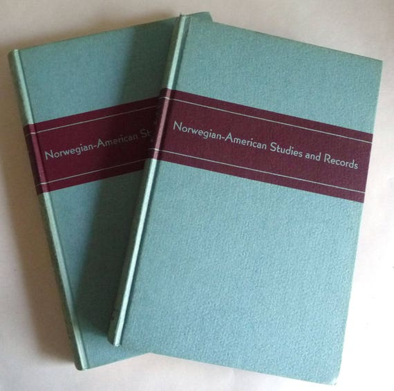 Norwegian-American Studies and Records Vols 12 & 13 (1941 and 1943) Bound Volumes Periodical
