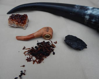 viking runes pipe pyrography gifts for him tobacciana ceremonial pipes tobacco smoking unique gifts under 20