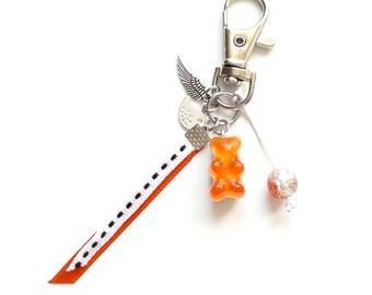 Bag charm - orange gummy bear LEXFIMO