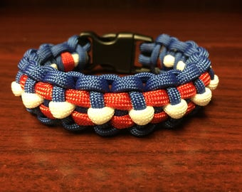 Red, White, and Blue Paracord Bracelet