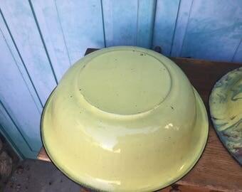 Old enameled steel Bowl