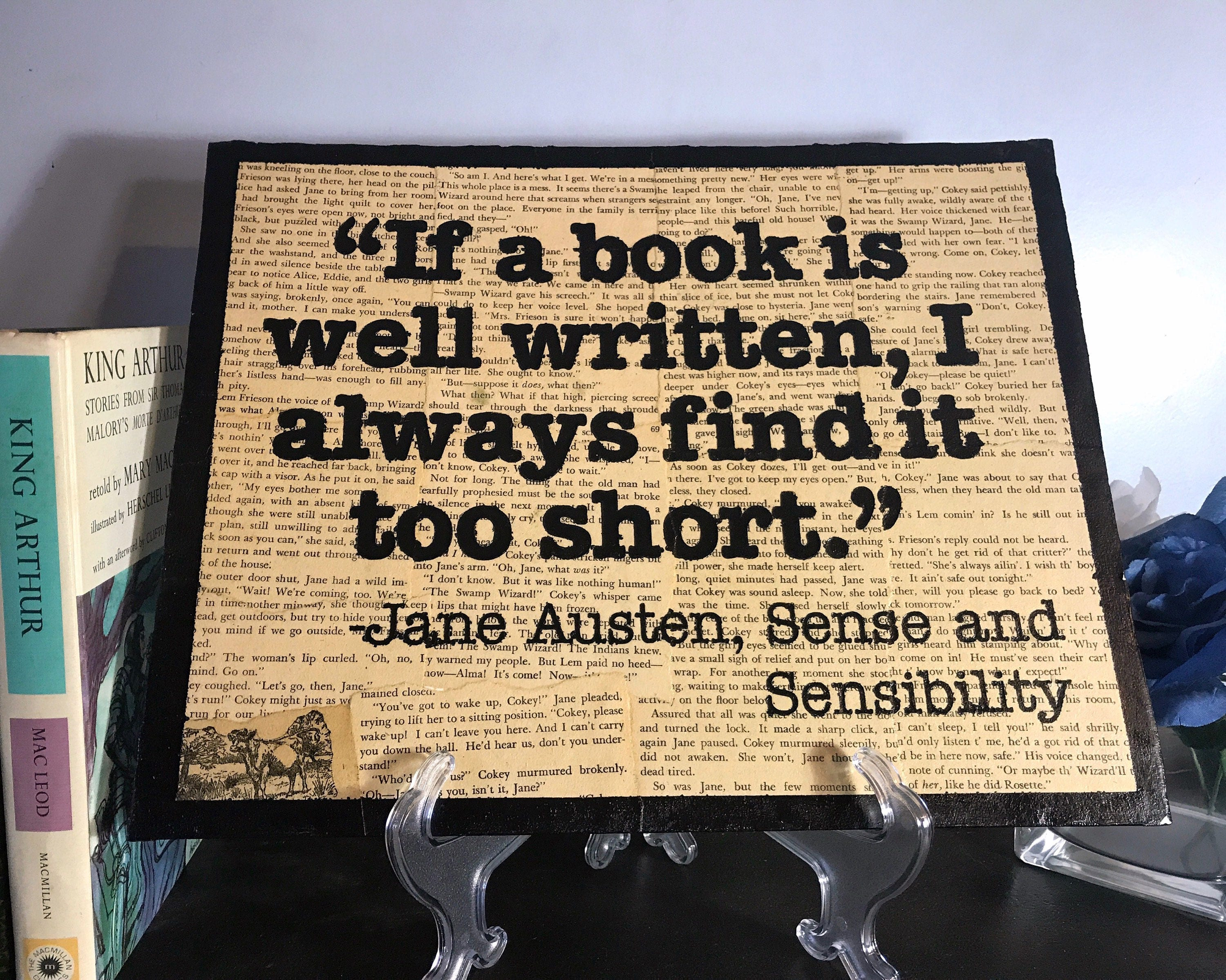 If a Book is Well Written Quote Wall Hang 11x14 [E10231018401173711M ...