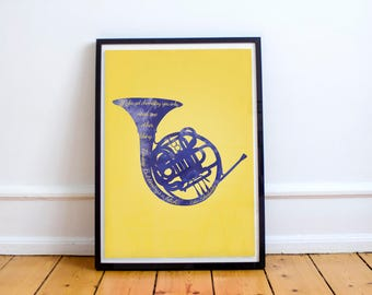 How I Met Your Mother| Tv Show | Art| Poster| Print | Blue Horn and Timing