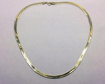 Sterling silver snake bone necklace  #57