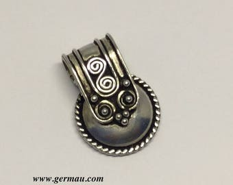 tribal sterling silver pendant #85