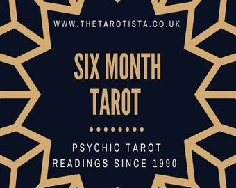 Six Month Detailed Psychic Tarot Reading, 2018 by Email with Photos, by Psychic Reader of 30 years experience