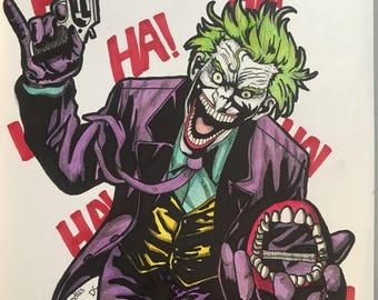 Comic Book Joker Illustration