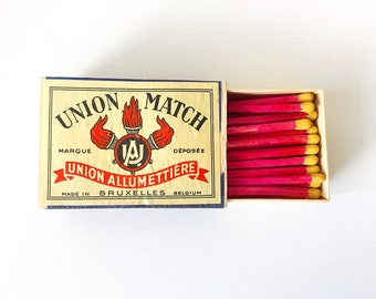 Vintage Hot Pink Union Matches by Union Allumettiere Made in Belgium