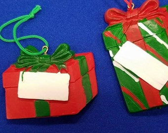 Christmas Present Christmas Ornaments with Personalization