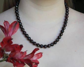 Red Garnet necklace.
