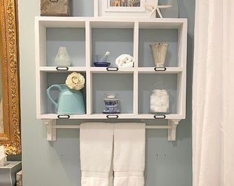 bathroom shelf with towel bar towel rack towel rod bathroom over the toilet