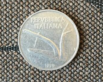 1979 Repvbblica Italiana 10 lire coin