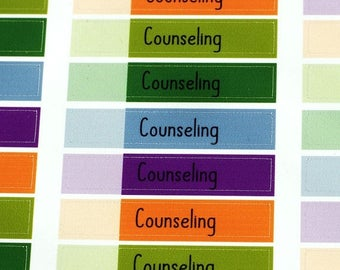 ON SALE Counseling Appointment Functional Vinyl Planner Sticker