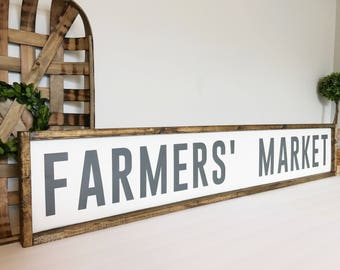 Great Farmers Market Sign, Farmers Market, Farmhouse Decor, Kitchen Decor, Fixer  Upper,