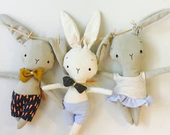 Funny Bunny stuffed animal toy baby and child