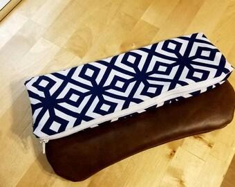 Handmade fold over clutch